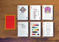 "betype: "" 1 Day Only: Get Off onThe Design Deck: Playing Cards Learn graphic design while playing poker! The Design Deck is a deck of playing cards that doubles as a practical guide to graphic. Deck Design, Ad Design, Design Thinking, Letter Anatomy, Gill Sans, Typography, Lettering, Print Layout, Deck Of Cards"