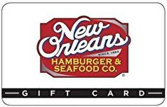 New Orleans Hamburger and Seafood Co. Gift Card * Check this awesome image  : Gift cards