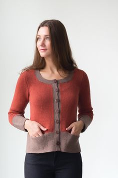 serif by elizabeth doherty / in quince & co. chickadee and lark