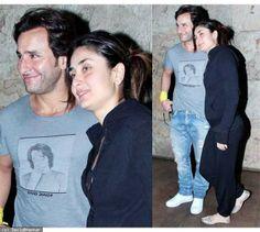 Tired Kareena Kapoor wears day-old clothes for Bullett Raja screening Saif Ali Khan, Karan Johar, Kareena Kapoor Khan, Old Clothes, Hd Photos, Bollywood Actress, Tired, Actresses, Couple Photos