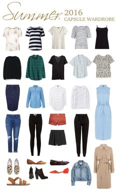 Summer 2016 capsule wardrobe - a casual capsule, great for mums.