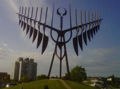 This is the Spirit Catcher, it is a sculpture originally created by sculptor Ron Baird I Am Canadian, Meeting Place, What A Wonderful World, Aurora Borealis, Best Memories, British Columbia, Wonders Of The World, Ontario, Vancouver
