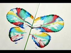Motyle malowane sznurkiem / string painted butterfly, kids craft, art and fun Butterfly Kids, Craft Art, Maya, Watercolor Tattoo, Crafts For Kids, Youtube, Fun, Painting, Crafts For Toddlers