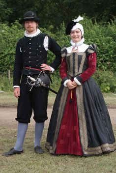 A Tudor lady and her retainer
