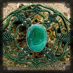 Mandala bracelet with Malachite by NagKanya on Etsy Spiritual Growth, Malachite, Mandala, Spirituality, Stone, Bracelets, Etsy, Rock, Bracelet