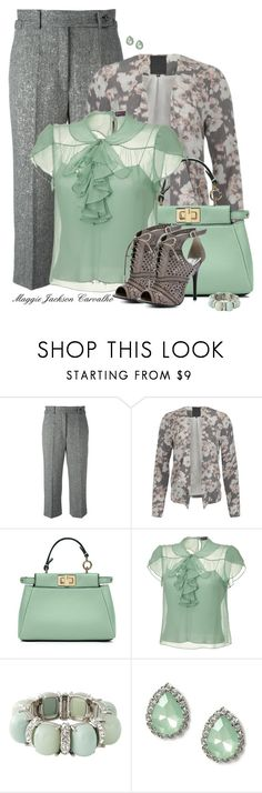 """Grey"" by maggie-jackson-carvalho ❤ liked on Polyvore featuring RED Valentino, ONLY, Fendi, Ralph Lauren Collection, LOFT, claire's and Naughty Monkey"