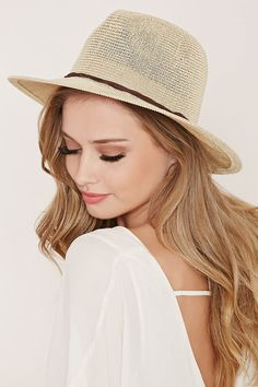 Straw Fedora - Womens accessories, jewellery and bags | shop online | Forever 21 - Hats - 2000153080 - Forever 21 EU English