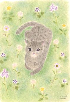Gray Cat ~ by Mayumi Maeda
