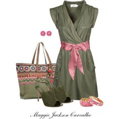 Olive Dress, created by maggie-jackson-carvalho on Polyvore