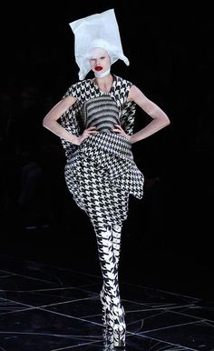 506271a9608 Houndstooth patterns from Alexander McQueen Fall 2009 Houndstooth