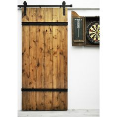Dogberry Drawbridge 82-inch Barn Door - Overstock Shopping - Top Rated Wall Paneling