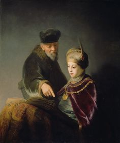 A Young Scholar and his Tutor, about 1629-1630, Workshop of Rembrandt van Rijn. J. Paul Getty Museum.