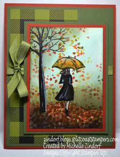 Autumn Stroll - Stampin' Up! Card created by Michelle Zindorf - Beautiful You and Sheltering Tree