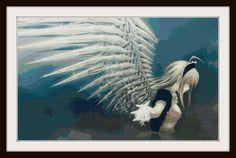 Anime Cross Stitch Pattern - Angel Anime - Anime by ACreativelyCrafter on Etsy