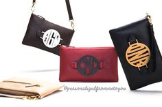 Three monogrammed purses in one!