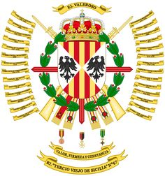 File:Coat of Arms of the Infantry Regiment. Mystery Of History, Coat Of Arms, Warfare, Army, Military, Spanish, Badges, Coats, Modern