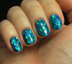 #exmermaid #summerdream  Mermaid scales nail art