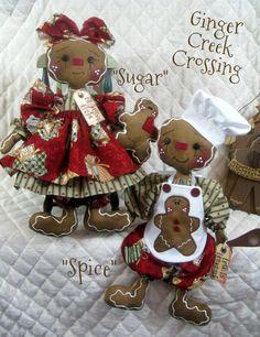 "♥♥ Primitive Raggedy Gingerbread Doll ""Spice"" w Spoon ♥♥ Ginger Creek Crossing | eBay"