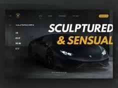 Lamborghini Huracán, concept of website #concept #webdesign #website #ui #lamborghini #huracan #typography