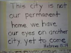 Hebrews 13:14
