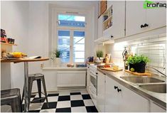 Kitchen Planning 10 metrov štvorcových Bufetové-Island