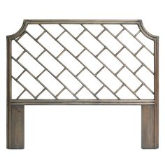 The Palm Beach Chippendale Headboard is part of the a uniquely styled, trend forward collection of quality furniture great for any coastal home, beach cottage, lake house, office, contemporary or traditional residence.  Mahogany frame with woven Rattan. Color: Old Gray