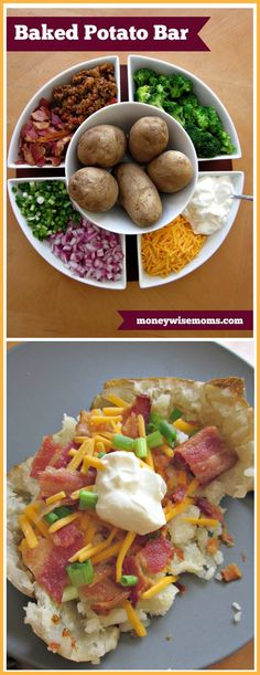 Baked Potato Bar Toppings (choose your favorites! Cream Butter, Sour Cream, Soccer Banquet, Fall Bonfire, Baked Potato Bar, Chopped Ham, 15 Birthday, Banquet Ideas, Cooking For A Crowd
