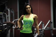 @strongliftwear Womens 'Crest' Singlet - Green #gym #outfit #liftwear #fashion #women #aesthetic www.strongliftwear.com