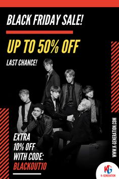 🖤 Our Black Friday deals will significantly improve your wardrobe.  🚨 Second chances don't come around often. Grab thebestbargains before everyone elsedoes! ⚠️ SALE ENDS in 24 HOURS!  💨 GO GO GO: K-GENERATION.COM  #BLACKFRIDAY #BLACKFRIDAYSALE #BTSBLACKFRIDAY #BTSMERCH #BTSMERCHANDISE #BLACKFRIDAYBTS #BLACKPINK #KPOPSALE #KPOP