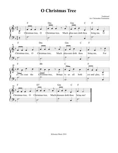 CHRISTMAS SHEET MUSIC: O Christmas Tree Sheet Music and Song for Children!