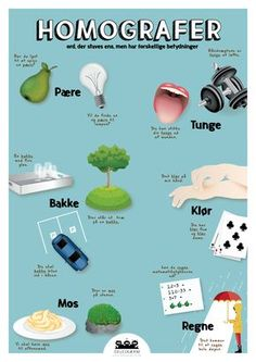 Teaching Schools, Teaching Kids, Teaching Resources, Danish Language, Homographs, Visible Learning, Cooperative Learning, Studyblr, Working With Children