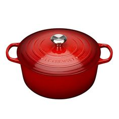 Also known as a Dutch oven, this updated kitchen classic enhances the cooking process by evenly distributing heat and locking in the optimal amount of moisture. With ergonomic handles and an advanced interior enamel that resists chipping and cleans easily, Le Creuset's French ovens blend the best of the past with the latest innovations