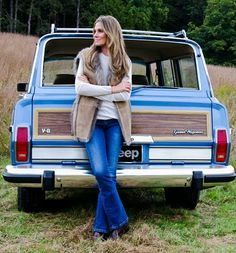 Aerin Lauder and her Grand Wagoneer