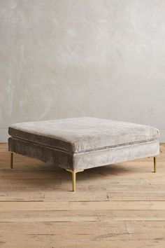 Slub Velvet Edlyn Ottoman - anthropologie.com #anthrofave