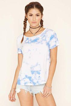 Forever 21 Tie-Dye Print Top