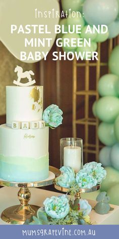 the best attitude 0dae9 ced86 Baby shower inspiration Pastel blue and mint green gorgeousness!  babyshower babyshowerideas
