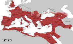 Η αυτοκρατορία στη μέγιστη ακμή της το 117 μ.Χ