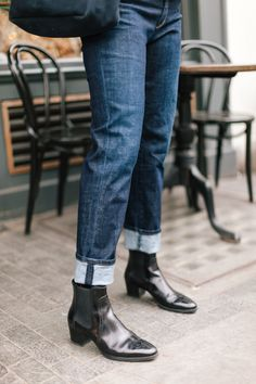 Jeans and ankle boot