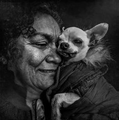 by Lee Jeffries Photography Dog Breeds List, Small Dog Breeds, Lee Jeffries, Black White Photos, Black And White Photography, Cool Pictures, Cool Photos, Most Beautiful Eyes, Photo Portrait