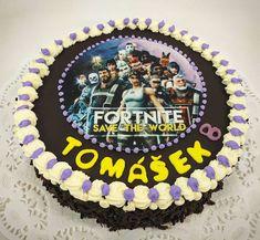 FORTNITE dort s jedlou fotkou pro malé zákazníčky, co na srdíčku, to na dortu Birthday Cake, Desserts, Food, Tailgate Desserts, Deserts, Birthday Cakes, Essen, Postres, Meals