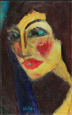 By Emil Nolde (1867-1956), 1919, Nadja, oil on canvas.