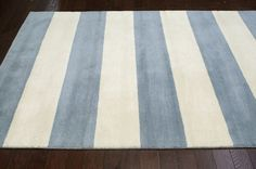 $5 Off when you share! Santa Ana Striped SM24 Dusk Blue Rug | Contemporary Rugs #RugsUSA
