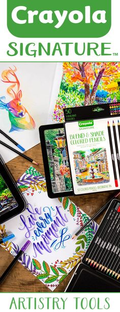 NEW! Signature Series from Crayola. Artistry tools to take creativity to the next level.