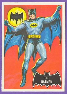 Stunning artwork from the 1966 Topps Batman trading cards. Painted art by classic pulp illustrator Norman Saunders.