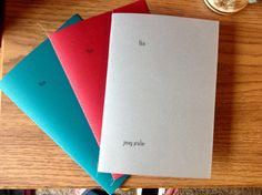 thin Poetry Book by Konglindorm on Etsy