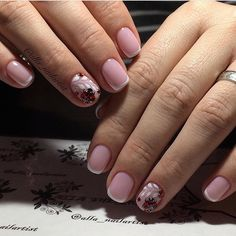 Classic french manicure, Delicate french manicure, Exquisite nails, Fashion nails 2017, French manicure ideas 2017, Gentle short nails, Original French manicure, Painted nail designs