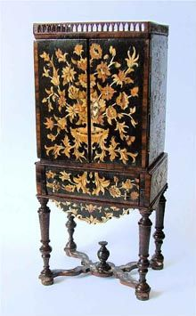 1:12th scale miniature painted cabinet- Chris Malcomson