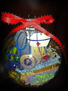 Hey, I found this really awesome Etsy listing at https://www.etsy.com/listing/118328425/4in-blown-glass-nurse-ornament
