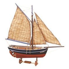 Buy Artesania Latina Longboat Bon Retour Wooden Model Kit at Mighty Ape NZ. A highly detailed wooden model kit of the Longboat Bon Retour by Artesania Latina. The Bon Retour is an all wood replica of a shell fishing boat, fro. Wooden Ship Model Kits, Model Ship Kits, Model Ships, Plastic Model Kits, Plastic Models, Number Crafts, Latina Models, Boat Art, Fishing Boats