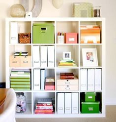 IKEA Hacks Expedit : Freestanding Expedit Bookcase From IKEA Expedit Shelves For… – home office organization files Expedit Bookcase, Ikea Expedit, Kallax Shelving, Ikea Shelves, Home Office Storage, Office Supply Organization, Organization Ideas, Bookshelf Organization, Office Shelving